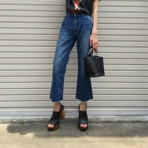 Moussy Cropped Flare Jeans